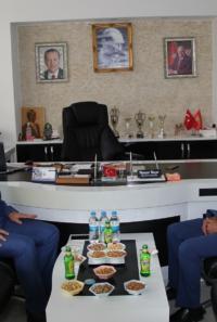 Kaymakam Yurdagül'den  Başkan  Koçer'e ziyaret
