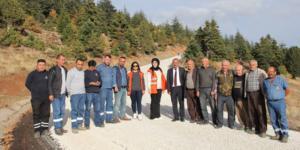 Yalıhüyük Antalya bağlantı yolu asfaltlandı