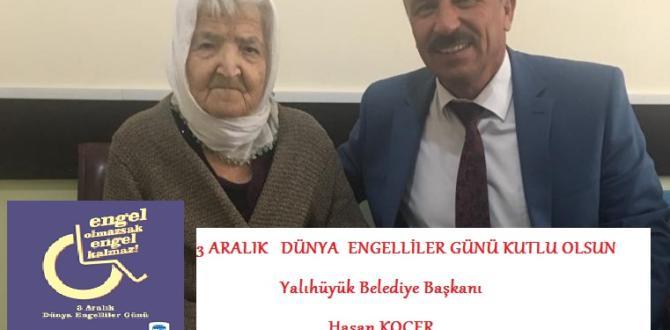 Başkan Koçer'in 3 Aralık engelliler günü mesajı