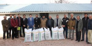 Çiftçilere Macar Fiği dağıtıldı