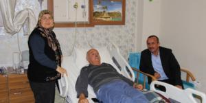Başkan  Koçer'den Celal Özmen'e geçmiş olsun ziyareti