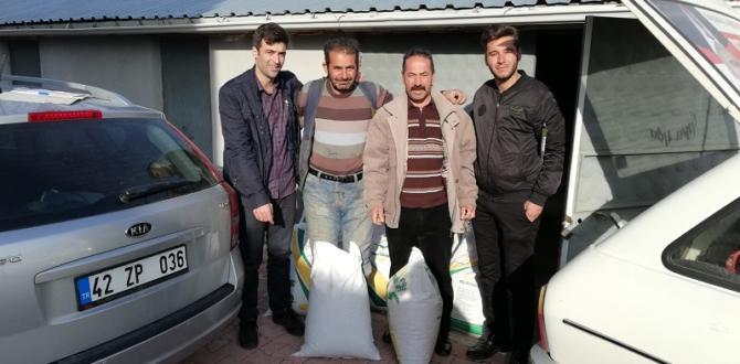 Yalıhüyük çiftçisine  tohum desteği