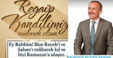 Başkan  Koçer'den  Regaip kandili mesajı