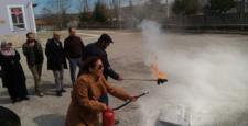 Yalıhüyük'de Öğretmenlere Yangın Tatbikatı Yaptırıldı