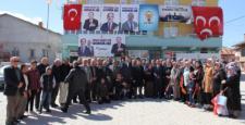 Milletvekili Ziya  Altunyaldız Yalıhüyük'te  halka  hitap etti