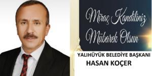 Başkan Koçer'in  Miraç  Kandili  Mesajı