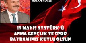 Başkan Koçer'den 19 Mayıs Bayram Mesajı