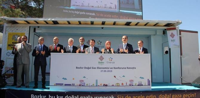 Bozkır'da doğal gaz sevinci